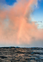 Horseshoe Fall and rainbow, Niagara Falls, Ontario, Canada.