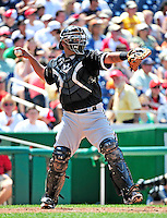 20 June 2010: Chicago White Sox catcher Ramon Castro in action during a game against the Washington Nationals at Nationals Park in Washington, DC. The White Sox swept the Nationals winning 6-3 in the last game of their 3-game interleague series. Mandatory Credit: Ed Wolfstein Photo