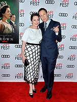 """LOS ANGELES, USA. November 17, 2019: Olivia Colman & Tobias Menzies at the gala screening for """"The Crown"""" as part of the AFI Fest 2019 at the TCL Chinese Theatre.<br /> Picture: Paul Smith/Featureflash"""