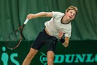 Wateringen, The Netherlands, March 16, 2018,  De Rhijenhof , NOJK 14/18 years, Nat. Junior Tennis Champ. Guy den Ouden (NED)<br />  Photo: www.tennisimages.com/Henk Koster
