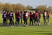 Swansea manager Paul Clement briefs his players during the Swansea City Training at The Fairwood Training Ground, Swansea, Wales, UK. Tuesday 05 December 2017