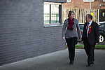© Joel Goodman - 07973 332324 . 27/01/2014 . Manchester , UK . The Deputy Leader of the Labour Party , Harriet Harman and Mike Kane arrive at the launch of Mike Kane's campaign for the Wythenshawe East and Sale by-election at the Woodhouse Park Lifestyle Centre in Wythenshawe , today (27th January 2014) . Photo credit : Joel Goodman