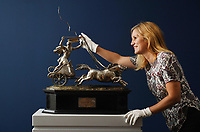 BNPS.co.uk (01202 558833)<br /> Pic: ZacharyCulpin/BNPS<br /> <br /> A majestic silver horse racing trophy which had stayed in the recipient's family for 147 years has sold for £36,000.<br /> <br /> William Gilbert trained five year old grey mare Lilian to glory in the prestigious 1874 Warwick Cup.<br /> <br /> The horse's owner, a Miss Savile, was so enamoured with him that she allowed him to keep the silverware.<br /> <br /> The 2ft trophy, depicting a classical chariot being pulled by four houses, passed down numerous generations of the Gilbert family, who remained in the racing scene in Newmarket, Suffolk.<br /> <br /> It was sold by a descendant with auctioneers Woolley & Wallis, of Salisbury, Wilts, to a member of the London trade, who paid £36,250 including fees.