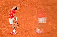deception de Novak Djokovic (srb) <br /> Parigi 09/10/2020 Roland Garros <br /> Tennis Grande Slam 2020<br /> French Open <br /> Photo JB Autissier / Panoramic / Insidefoto <br /> ITALY ONLY