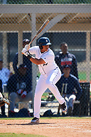 Detroit Tigers Cesar Gonzalez (71) during a Minor League Spring Training game against the Atlanta Braves on March 22, 2018 at the TigerTown Complex in Lakeland, Florida.  (Mike Janes/Four Seam Images)