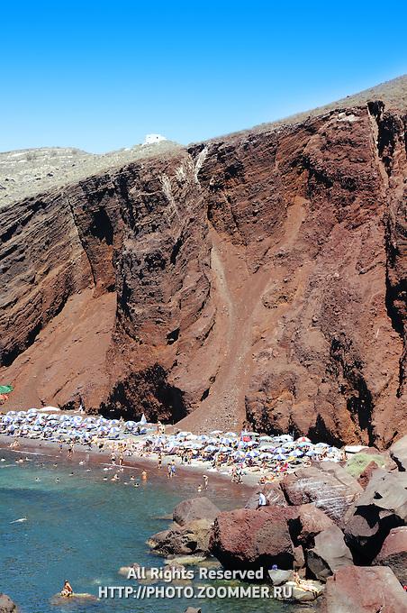 Cliff over Red beach in Akrotiri, Thira (Santorini)