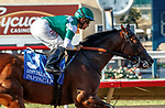 DEL MAR, CA  AUGUST 7:  #3 Pappacap, ridden by Joe Bravo, easily wins the Best Pal Stakes (Grade ll) on August 7, 2021 at Del Mar Thoroughbred Club in Del Mar, CA.(Photo by Casey Phillips/Eclipse Sportswire/CSM)