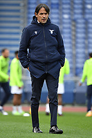 Simone Inzaghi coach of SS Lazio looks on during the warm up prior to the Serie A football match between SS Lazio and ACF Fiorentina at Olimpico stadium in Roma (Italy), January 6th, 2021. Photo Andrea Staccioli / Insidefoto