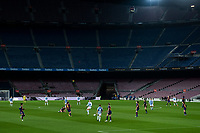 6th January 2021; Camp Nou, Barcelona, Spain. La Liga Womens league football FC Barcelona versus Rcd Espanyol; Long view of the game with an empty Nou Camp stadium due to the pandemic