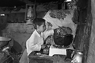 In Colombia, children are often burned by oil whilst working in kitchens. - Child labor as seen around the world between 1979 and 1980 – Photographer Jean Pierre Laffont, touched by the suffering of child workers, chronicled their plight in 12 countries over the course of one year.  Laffont was awarded The World Press Award and Madeline Ross Award among many others for his work.