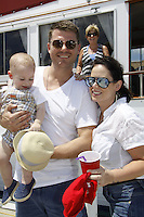 Jeff Branson, fiancee Jaimie Foley and son Van James - Actors from Y&R, Days and General Hospital donated their time to Southwest Florida 16th Annual SOAPFEST and during the weekend took a break to chill on one of the boats to see dolphins and to swim off Marco Island, Florida on May 23, 2015 - a celebrity weekend May 22 thru May 25, 2015 benefitting the Arts for Kids and children with special needs and ITC - Island Theatre Co.  (Photos by Sue Coflin/Max Photos)