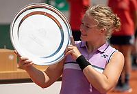 Paris, France, 6 june 2021, Tennis, French Open, Roland Garros, Womans Wheelchair  single  final: Dide de Groot wins Roland Garros (NED) <br /> Photo: tennisimages.com