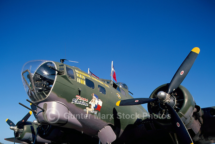 "Boeing B-17G Flying Fortress (""Texas Raiders"") on Static Display - at Abbotsford International Airshow, BC, British Columbia, Canada"