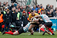 Toby Eaton of Richmond Rugby in action during the English National League match between Richmond and Blackheath  at Richmond Athletic Ground, Richmond, United Kingdom on 4 January 2020. Photo by Carlton Myrie.