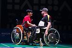 Wai Yan Vivian Lau (HKG) & Bastian Keller (GER)<br /> BC4 Bronze Medal Match<br /> Germany v Hong Kong<br /> BISFed 2018 World Boccia Championships <br /> Exhibition Centre Liverpool<br /> 18.08.18<br /> ©Steve Pope<br /> Sportingwales