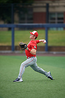 Slade Wilks (15) during the Under Armour All-America Game Practice, powered by Baseball Factory, on July 21, 2019 at Les Miller Field in Chicago, Illinois.  Slade Wilks attends Columbia Academy in Columbia, Mississippi and is committed to the University of Southern Mississippi.  (Mike Janes/Four Seam Images)