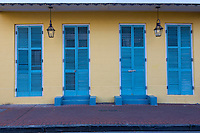 French Quarter, New Orleans, Louisiana.  Creole Cottage Style House, Orleans Street.