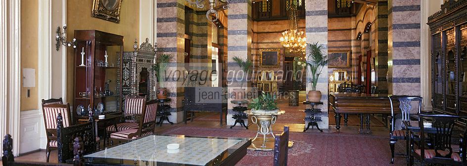 Europe et Asie /Turquie/Istanbul: Hotel Pera Palace Hotel Mythique d'Istanbul qui accueilit Agatha Christie - le Salon