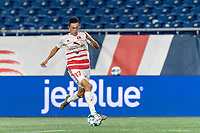FOXBOROUGH, MA - AUGUST 21: Jonathan Bolanos #17 of Richmond Kickers on the attack during a game between Richmond Kickers and New England Revolution II at Gillette Stadium on August 21, 2020 in Foxborough, Massachusetts.