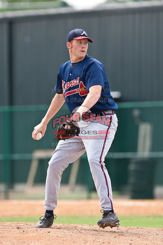 Dan Winnie of the Gulf Coast League Braves during the game against the Gulf Coast League Tigers July 3 2010 at the Disney Wide World of Sports in Orlando, Florida.  Photo By Scott Jontes/Four Seam Images