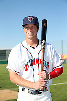 Brett Phillips (6) of the Lancaster JetHawks poses for a photo before a game against the Lake Elsinore Storm at The Hanger on May 9, 2015 in Lancaster, California. Lancaster defeated Lake Elsinore, 3-1. (Larry Goren/Four Seam Images)