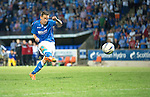 St Johnstone v FC Luzern...24.07.14  Europa League 2nd Round Qualifier<br /> Steven MacLean scores his penalty<br /> Picture by Graeme Hart.<br /> Copyright Perthshire Picture Agency<br /> Tel: 01738 623350  Mobile: 07990 594431