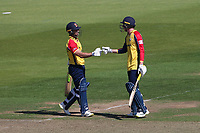 Ryan ten Doeschate and Dan Lawrence in batting action for Essex during Hampshire Hawks vs Essex Eagles, Vitality Blast T20 Cricket at The Ageas Bowl on 16th July 2021