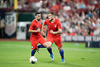 St. Louis, MO - SEPTEMBER 10: Jordan Morris #11 of the United States moves with the ball during their game versus Uruguay at Busch Stadium, on September 10, 2019 in St. Louis, MO.