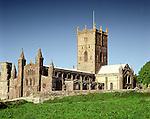 St Saint Davids Cathedral.  St Davids Head Pembrokshire Wales. Uk. Celtic Britain published by Orion
