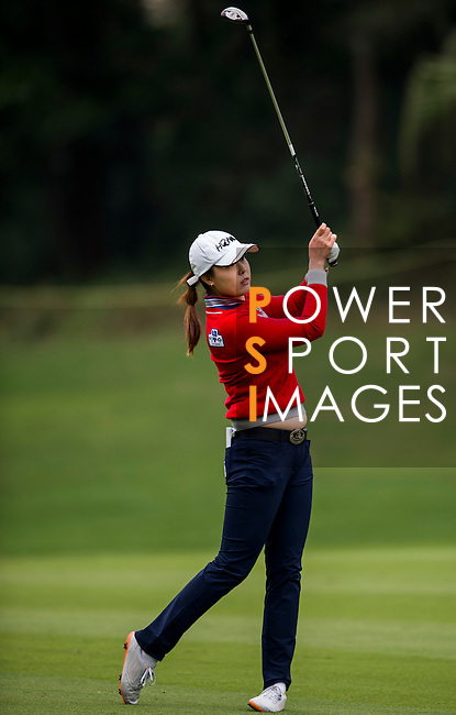 Ye-Na Chung of Korea in action during the Hyundai China Ladies Open 2014 on December 12 2014 at Mission Hills Shenzhen, in Shenzhen, China. Photo by Li Man Yuen / Power Sport Images