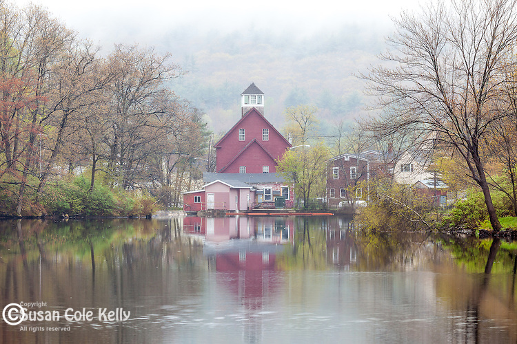 Red mill in Ashland, New Hampshire, USA