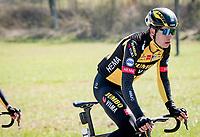 Defending champion Wout van Aert (BEL/Jumbo-Visma)<br /> <br /> 112th Milano-Sanremo 2021 (1.UWT)<br /> 1 day race from Milan to Sanremo (299km)<br /> <br /> ©kramon