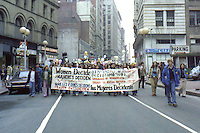 Reproductive rights march on Tremont Street Boston MA 3.31.79