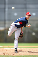 March 22, 2010:  Pitcher A.J. Morris (48) of the Washington Nationals organization during Spring Training at the Carl Barger Training Complex in Melbourne, FL.  Photo By Mike Janes/Four Seam Images