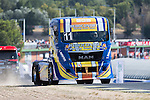 Portuguese driver Eduardo Rodrigues belonging Portuguese team Eduardo Rodrigues during the fist race R1 of the XXX Spain GP Camion of the FIA European Truck Racing Championship 2016 in Madrid. October 01, 2016. (ALTERPHOTOS/Rodrigo Jimenez)