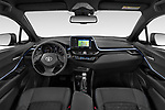 Stock photo of straight dashboard view of a 2020 Toyota C-HR Club 5 Door SUV