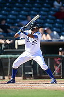 Peoria Javelinas outfielder Jorge Bonifacio (22), of the Kansas City Royals organization, during an Arizona Fall League game against the Mesa Solar Sox on October 16, 2013 at Surprise Stadium in Surprise, Arizona.  Mesa defeated Peoria 3-1.  (Mike Janes/Four Seam Images)