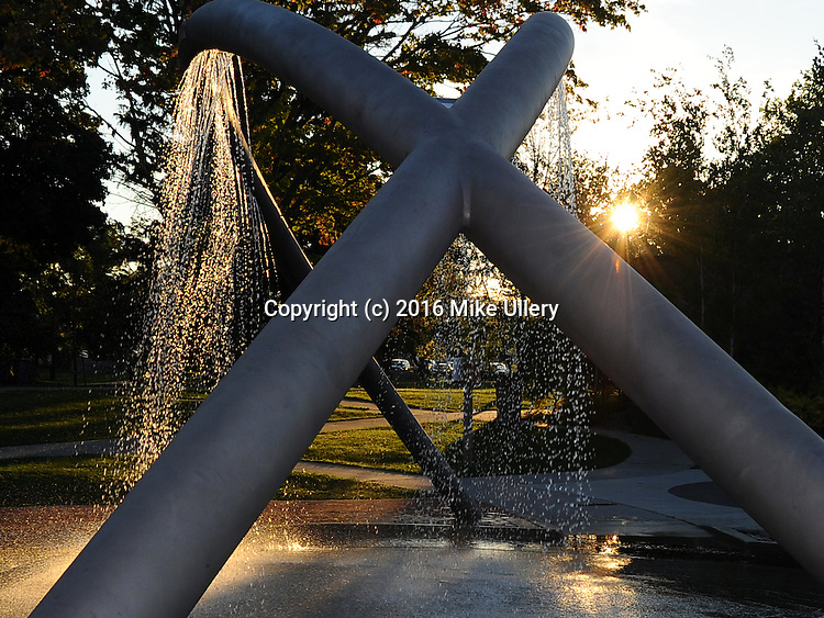 Sunset at Clinch Park, West Bay, Traverse City, Michigan on September 3, 2016