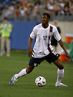 Cory Gibbs looks to pass the ball. USA (0) vs Morocco (1), May 23, 2006, at The Coliseum in Nashville, Tenn.