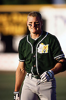 Eric Byrnes of the Modesto A's during a California League baseball game circa 1999. (Larry Goren/Four Seam Images)