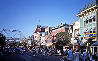 Disneyland, Main Street. Designed and built by Walt Disney. Opened in 1955.<br />