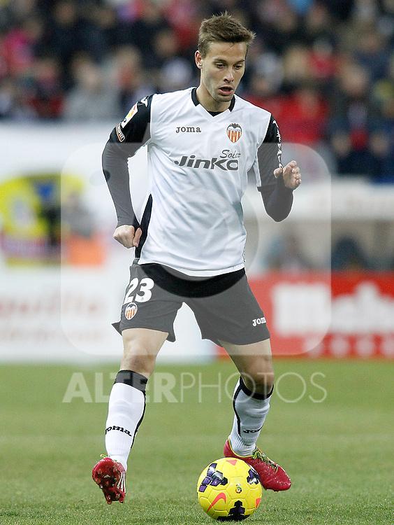 Valencia's Sergio Canales during La Liga match.December 15,2013. (ALTERPHOTOS/Acero)