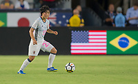 Carson, CA - Thursday August 03, 2017: Nana Ichise during a 2017 Tournament of Nations match between the women's national teams of the United States (USA) and Japan (JAP) at StubHub Center.