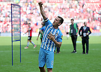 28th May 2018, Wembley Stadium, London, England;  EFL League 2 football, playoff final, Coventry City versus Exeter City; Michael Doyle of Coventry City celebrates after the final whistle