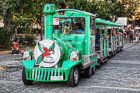 The tour train for the sightseeing of Athens, Greece