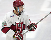 Seb Lloyd (Harvard - 15) - The visiting Colgate University Raiders shut out the Harvard University Crimson for a 2-0 win on Saturday, January 27, 2018, at Bright-Landry Hockey Center in Boston, Massachusetts.