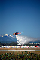 Sikorsky S-64 Aircrane Helicopter (aka CH-54 Tarhe) Forest Fire Fighting Demonstration - at Abbotsford International Airshow, BC, British Columbia, Canada
