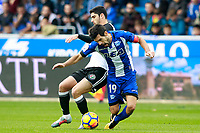 Deportivo Alaves' Manu Garcia (r) and Valencia CF's Gonzalo Guedes during La Liga match. October 28,2017. (ALTERPHOTOS/Acero) /NortePhoto.com