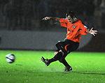 Steve Jenkins kicks the ball up field. Newport County V Havant & Waterlooville FC, Blue Square South League, © Ian Cook IJC Photography iancook@ijcphotography.co.uk www.ijcphotography.co.uk