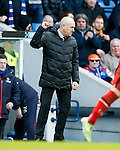 Mark Warburton punches the air at full time